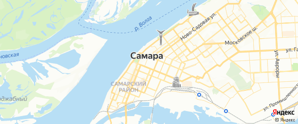Карта Самары с районами, улицами и номерами домов