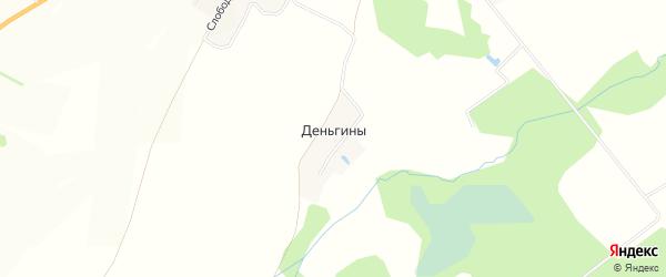 Карта деревни Деньгины в Кировской области с улицами и номерами домов
