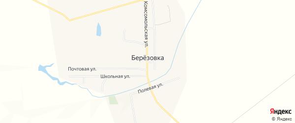 Карта села Березовки в Самарской области с улицами и номерами домов