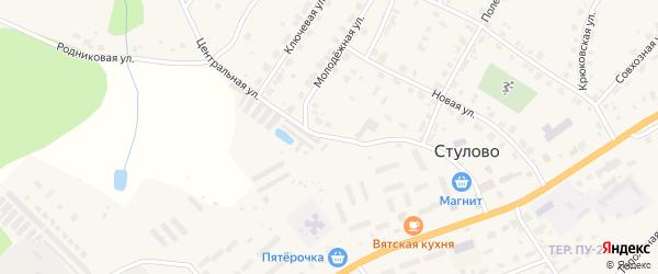 Центральная улица на карте деревни Стулово Кировской области с номерами домов