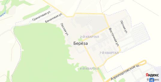 Карта поселка Береза в Самаре с улицами, домами и почтовыми отделениями со спутника онлайн