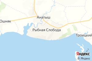 Карта пгт Рыбная Слобода Республика Татарстан
