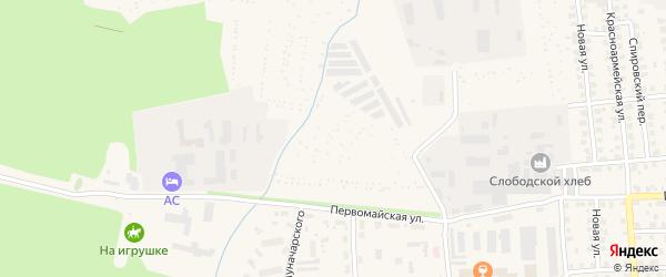 Территория сдт Черемушки (г.Слободской) на карте Слободской с номерами домов
