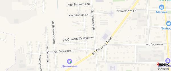 Переулок Дубинина на карте Слободской с номерами домов
