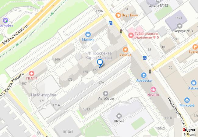 1ead434d03f9 проспект Карла Маркса, 177 на карте-панораме Самары, организации ...