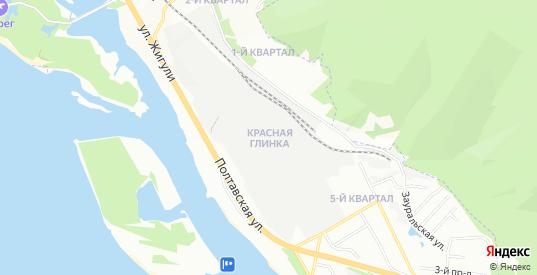 Карта поселка Красная Глинка в Самаре с улицами, домами и почтовыми отделениями со спутника онлайн