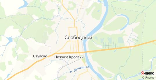 Карта Слободского с улицами и домами подробная. Показать со спутника номера домов онлайн
