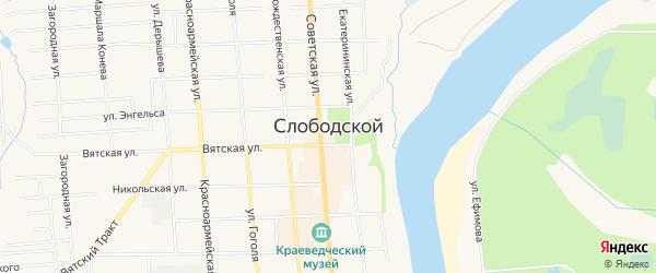 ГСК Авангард на карте Слободской с номерами домов