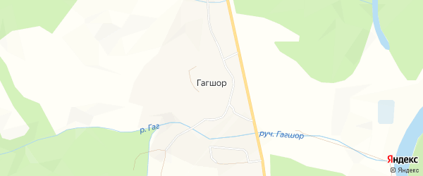 Карта села Гагшора в Коми с улицами и номерами домов