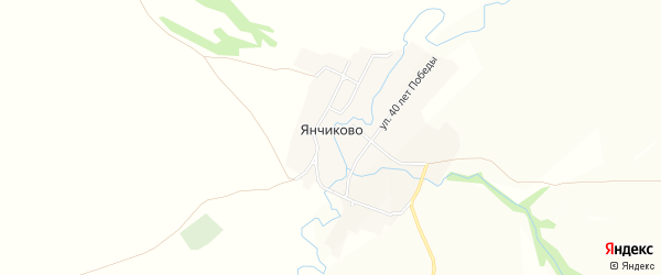 Карта села Янчиково в Татарстане с улицами и номерами домов
