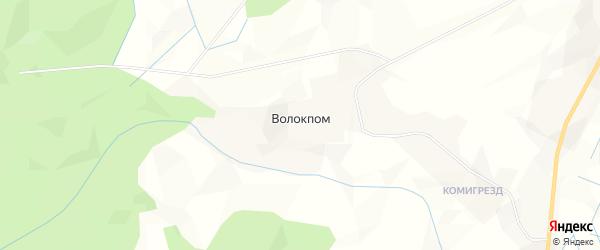 Карта деревни Волокпома в Коми с улицами и номерами домов