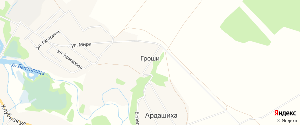 Карта деревни Грош в Кировской области с улицами и номерами домов