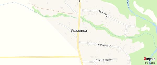 1-я Дачная улица на карте поселка Украинки Самарской области с номерами домов