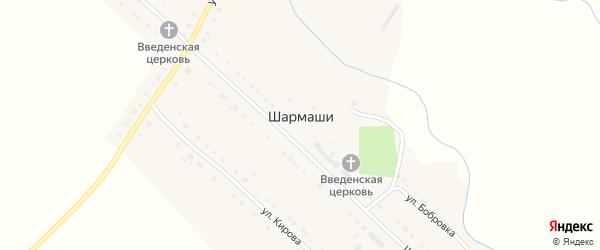 Улица Тельмана на карте села Шармаши Татарстана с номерами домов