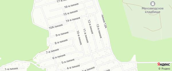 11-я линия на карте СНТ Малых Дойки массива 1 с номерами домов