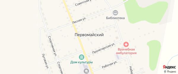 Местечко Турбаза на карте Первомайского поселка Коми с номерами домов