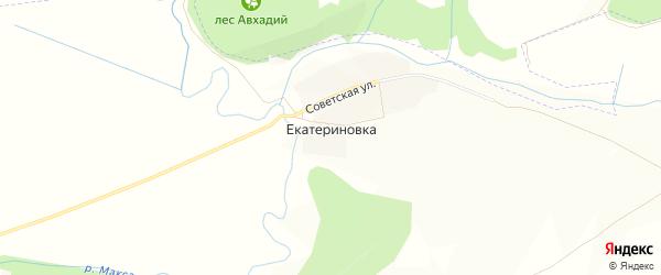 Карта деревни Екатериновки в Татарстане с улицами и номерами домов