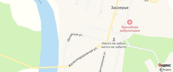 Деповская улица на карте поселка Заозерья Коми с номерами домов