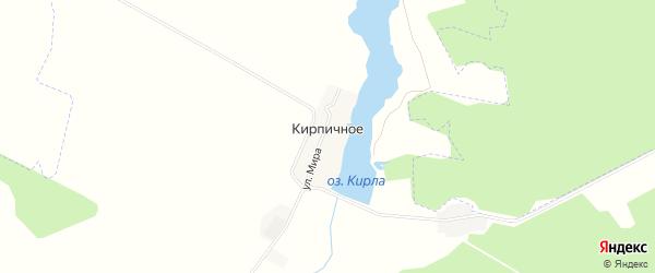Карта Кирпичного села в Татарстане с улицами и номерами домов