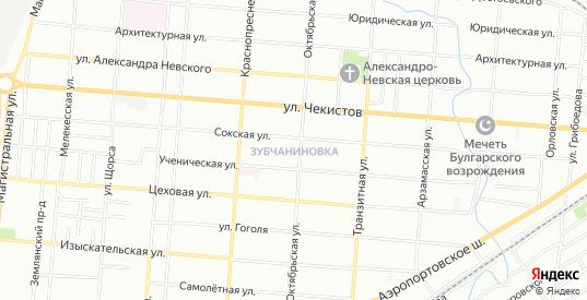 Карта поселка Зубчаниновка в Самаре с улицами, домами и почтовыми отделениями со спутника онлайн