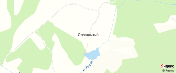 Карта Стекольного поселка в Татарстане с улицами и номерами домов
