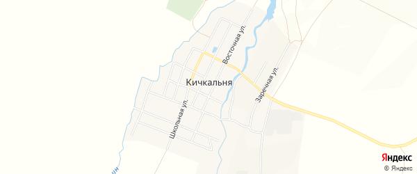 Карта села Кичкальни в Татарстане с улицами и номерами домов
