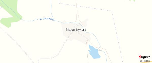 Карта деревни Малой Кульги в Татарстане с улицами и номерами домов