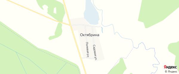 Карта поселка Октябрина в Татарстане с улицами и номерами домов