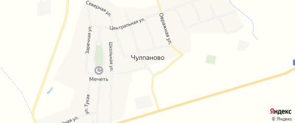 Карта села Чулпаново в Татарстане с улицами и номерами домов