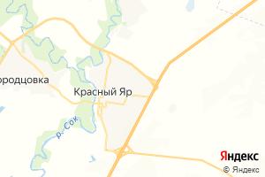 Карта с. Красный Яр Самарская область
