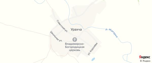 Карта села Урахчи в Татарстане с улицами и номерами домов