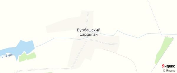 Карта деревни Бурбашского Сардыгана в Татарстане с улицами и номерами домов