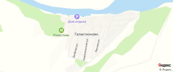 Карта села Галактионово в Татарстане с улицами и номерами домов