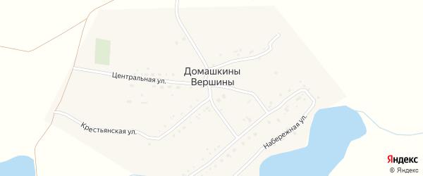 Полевая улица на карте поселка Домашкины Вершины Самарской области с номерами домов