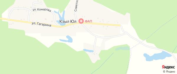 Советская улица на карте поселка Кзыла Юл Татарстана с номерами домов