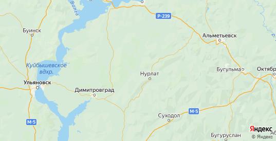 Карта Нурлатского района республики Татарстан с городами и населенными пунктами