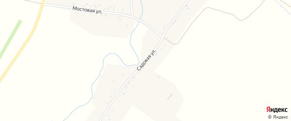 Садовая улица на карте деревни Новый Чувашский Адам Татарстана с номерами домов