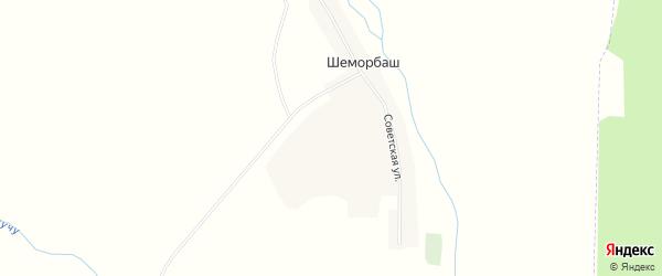 Карта села Шеморбаша в Татарстане с улицами и номерами домов