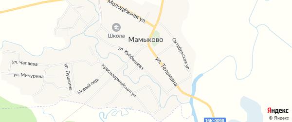 Карта села Мамыково в Татарстане с улицами и номерами домов