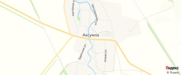 Карта села Аксумла в Татарстане с улицами и номерами домов
