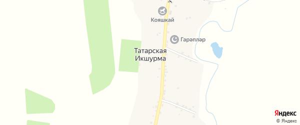 Переулок Ленина на карте села Татарской Икшурмы Татарстана с номерами домов