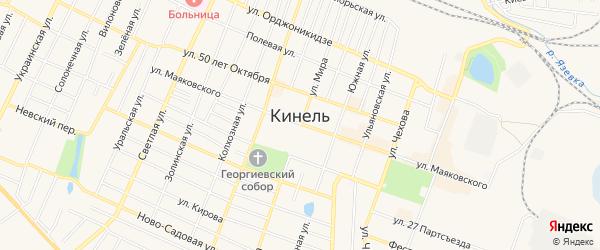 СНТ СТ ПМС-208 на карте Кинеля с номерами домов