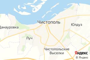 Карта г. Чистополь Республика Татарстан