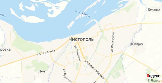 Карта Чистополя с улицами и домами подробная. Показать со спутника номера домов онлайн