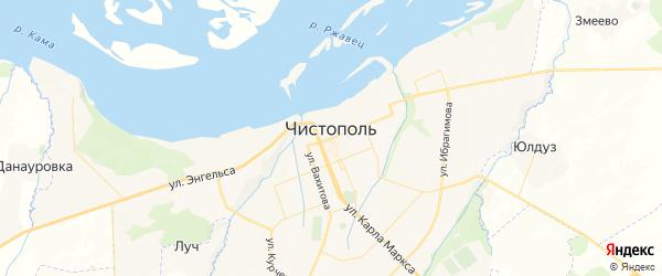 Карта Чистополя с районами, улицами и номерами домов