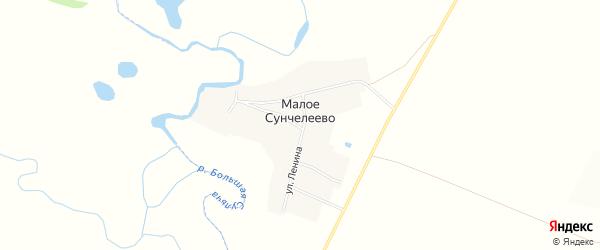 Карта деревни Малое Сунчелеево в Татарстане с улицами и номерами домов