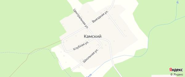 Улица Курортная-1 на карте Камского поселка Татарстана с номерами домов