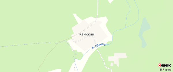 Карта Камского поселка в Татарстане с улицами и номерами домов