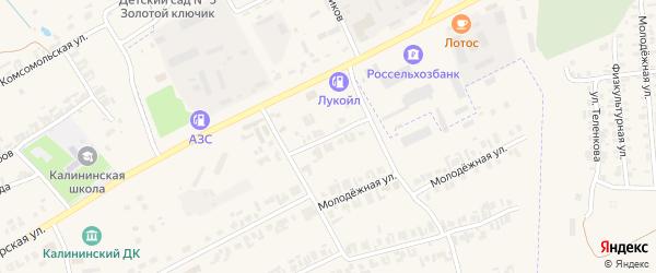 Пролетарский переулок на карте села Калинино Кировской области с номерами домов