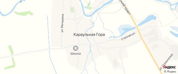 Карта деревни Караульной Горы в Татарстане с улицами и номерами домов